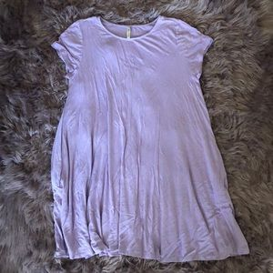 Short sleeve basic mini dress